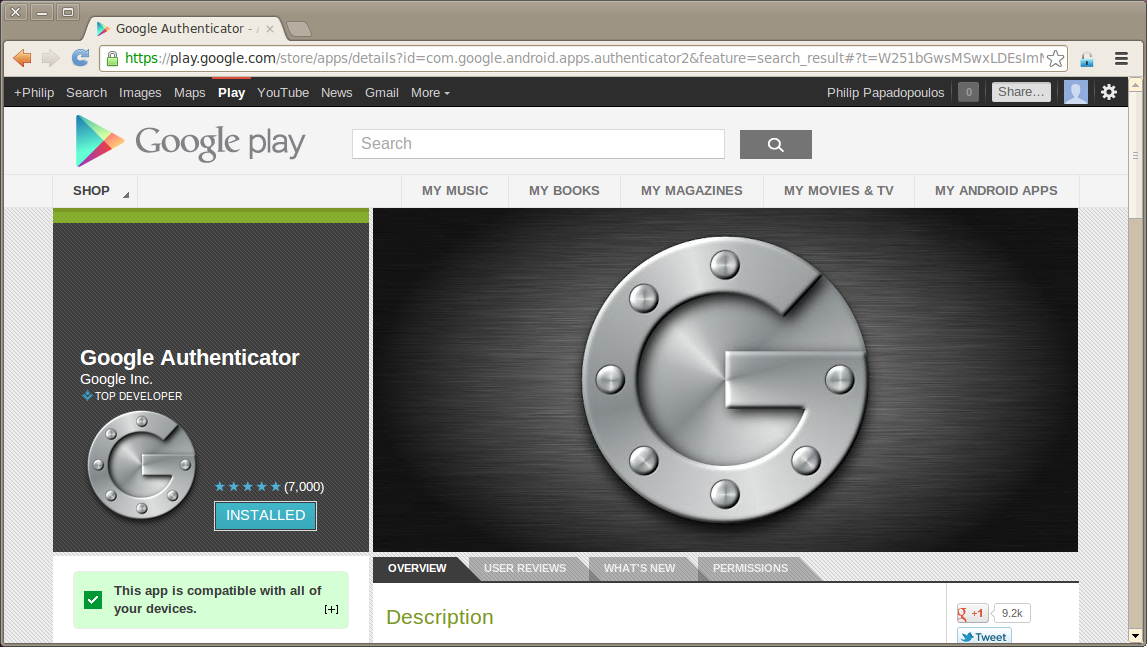 Enabling Two-Factor Authentication with Google Authenticator